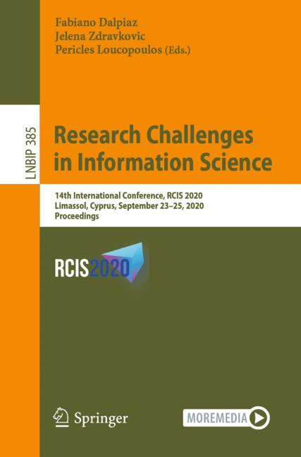 Cover of 'Research Challenges in Information Science'
