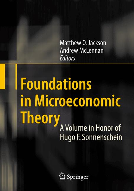Cover of 'Foundations in Microeconomic Theory'