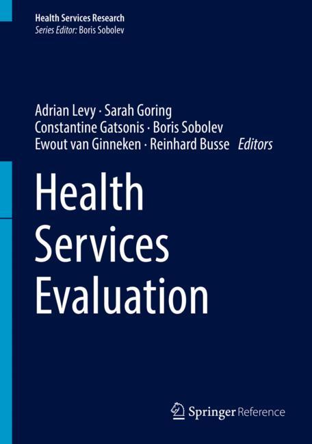 Cover of 'Health Services Evaluation'