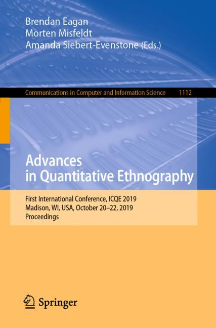 Cover of 'Advances in Quantitative Ethnography'
