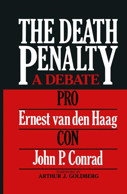 Cover of 'The death penalty : a debate'