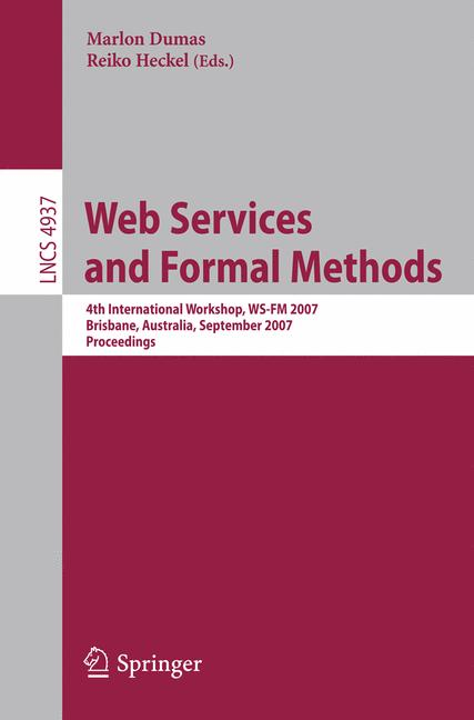 Cover of 'Web Services and Formal Methods'