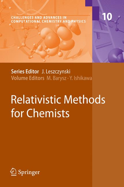 Cover of 'Relativistic Methods for Chemists'
