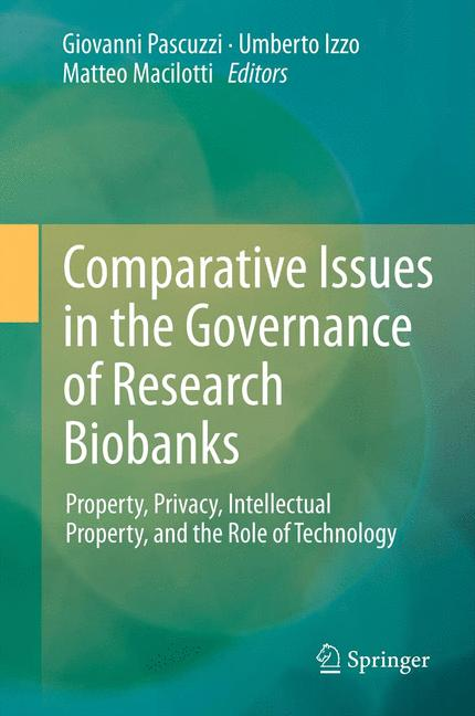 Cover of 'Comparative Issues in the Governance of Research Biobanks'