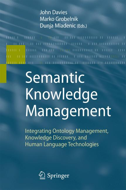 Cover of 'Semantic Knowledge Management'