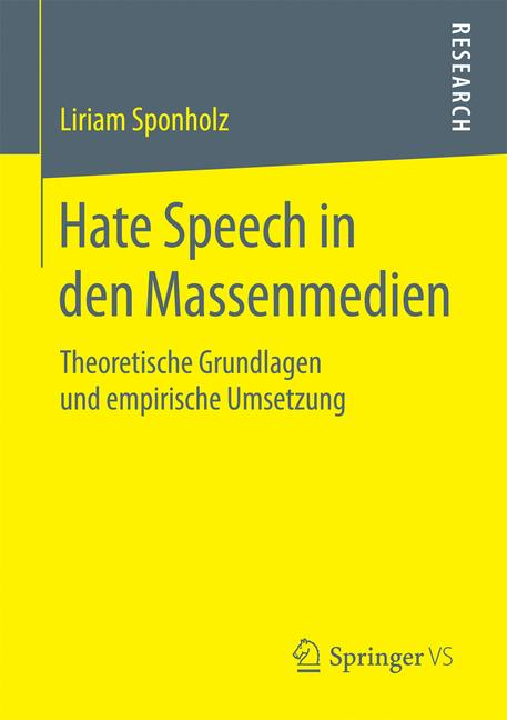 Cover of 'Hate Speech in den Massenmedien'