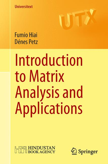 Cover of 'Introduction to Matrix Analysis and Applications'