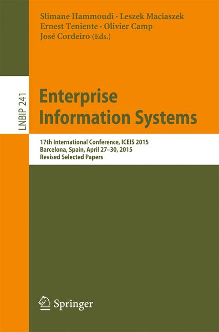 Cover of 'Enterprise Information Systems'