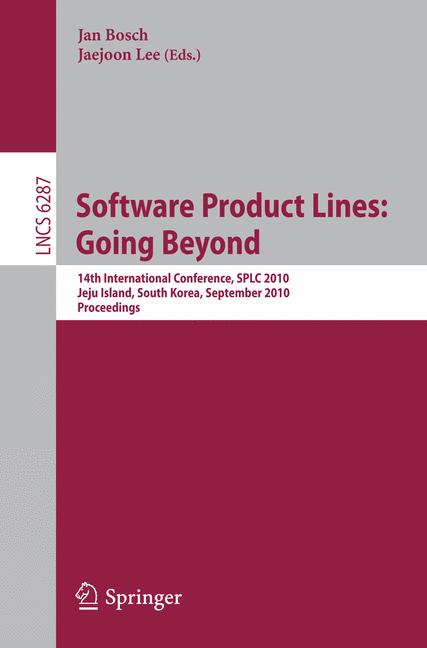 Cover of 'Software Product Lines: Going Beyond'