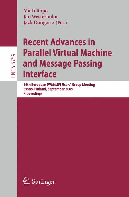 Cover of 'Recent Advances in Parallel Virtual Machine and Message Passing Interface'