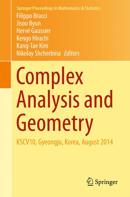 Cover of 'Complex Analysis and Geometry'
