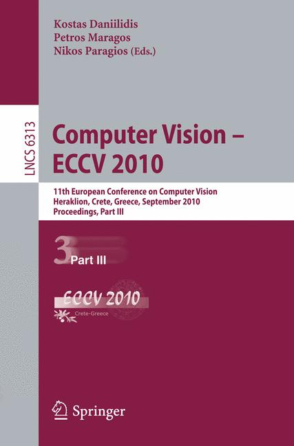 Cover of 'Computer Vision – ECCV 2010'
