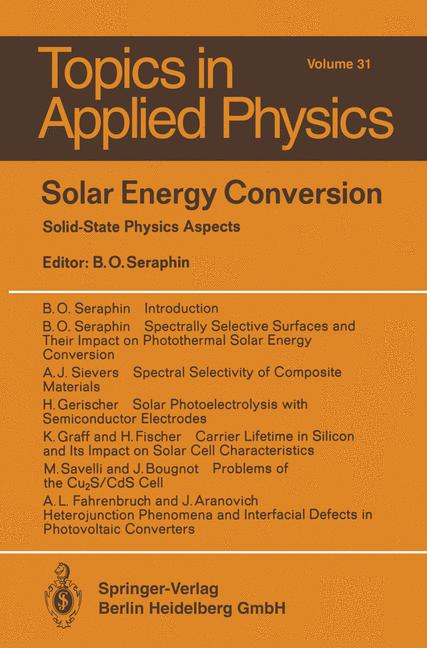 Cover of 'Solar Energy Conversion'