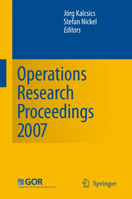 Cover of 'Operations Research Proceedings 2007'