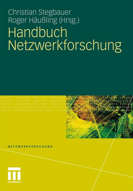 Cover of 'Handbuch Netzwerkforschung'