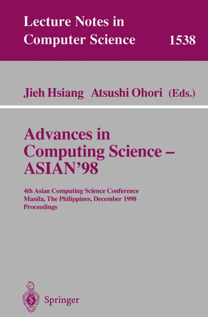 Cover of 'Advances in Computing Science ASIAN 98'