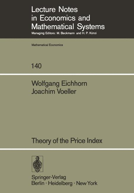 Cover of 'Theory of the Price Index'