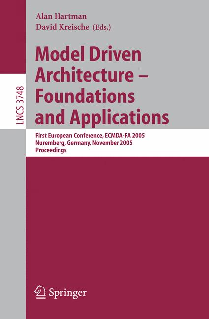 Cover of 'Model Driven Architecture – Foundations and Applications'