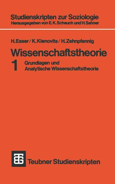 Cover of 'Wissenschaftstheorie'