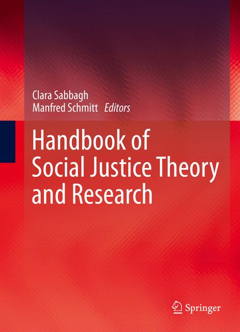 Cover of 'Handbook of Social Justice Theory and Research'
