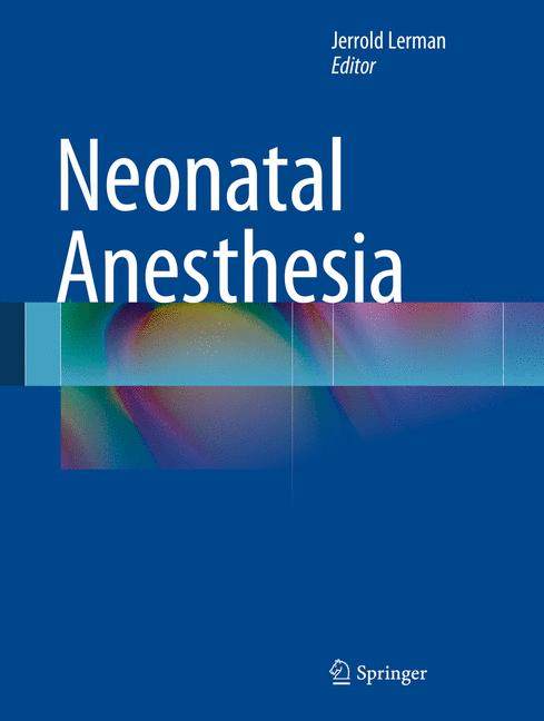 Cover of 'Neonatal Anesthesia'