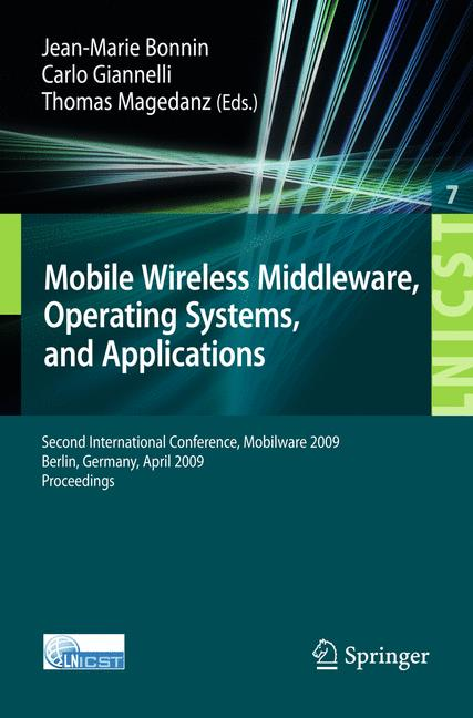 Cover of 'MobileWireless Middleware, Operating Systems, and Applications'