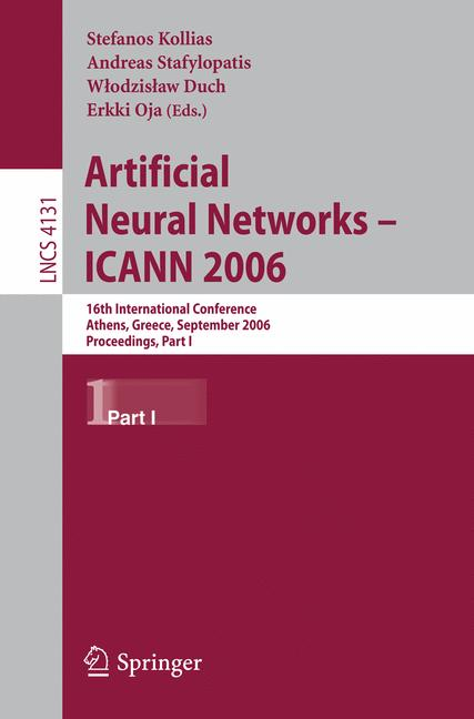 Cover of 'Artificial Neural Networks – ICANN 2006'