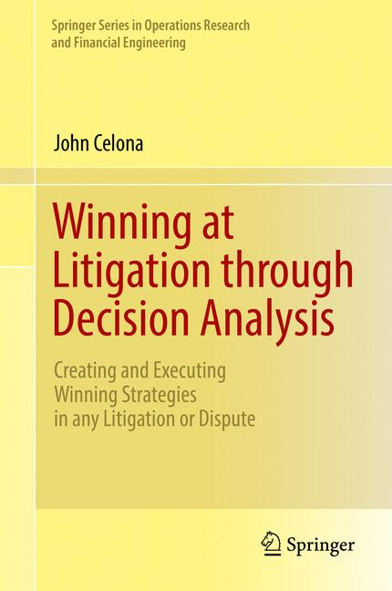 Cover of 'Winning at Litigation through Decision Analysis'