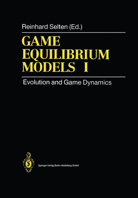 Cover of 'Game Equilibrium Models I'