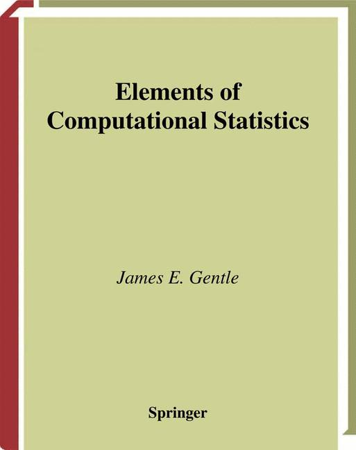 Cover of 'Elements of Computational Statistics'