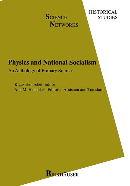 Cover of 'Physics and National Socialism'