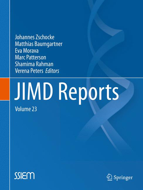Cover of 'JIMD Reports, Volume 23'