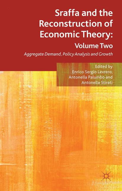 Cover of 'Sraffa and the Reconstruction of Economic Theory: Volume Two'