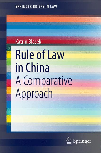 Cover of 'Rule of Law in China'