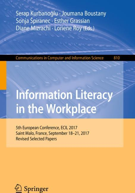Cover of 'Information Literacy in the Workplace'