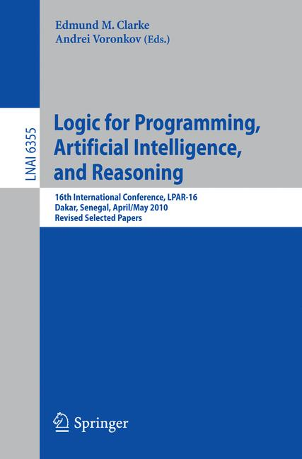 Cover of 'Logic for Programming, Artificial Intelligence, and Reasoning'
