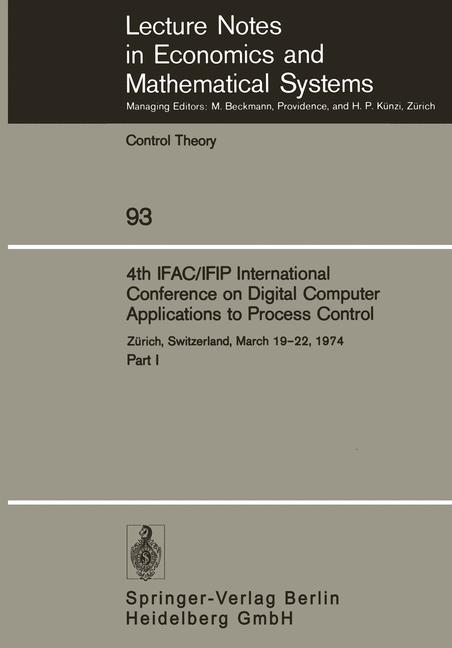 Cover of '4th IFAC/IFIP International Conference on Digital Computer Applications to Process Control'