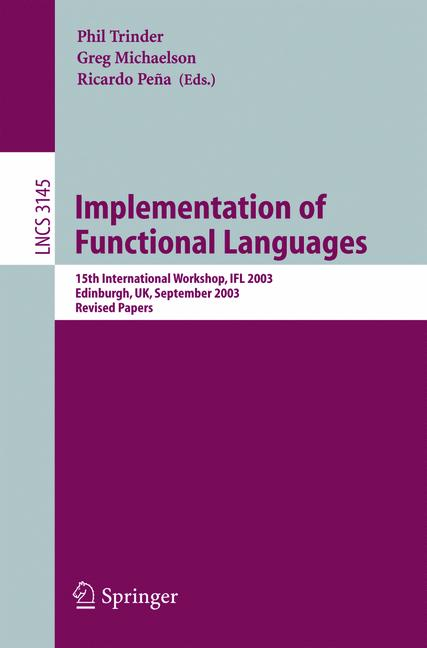 Cover of 'Implementation of Functional Languages'