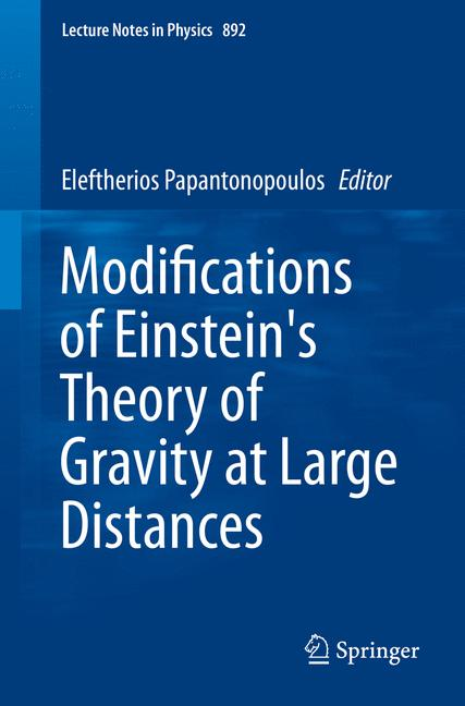Cover of 'Modifications of Einstein's Theory of Gravity at Large Distances'
