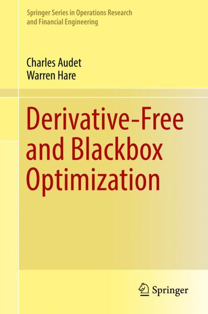 Cover of 'Derivative-Free and Blackbox Optimization'