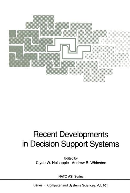 Cover of 'Recent Developments in Decision Support Systems'