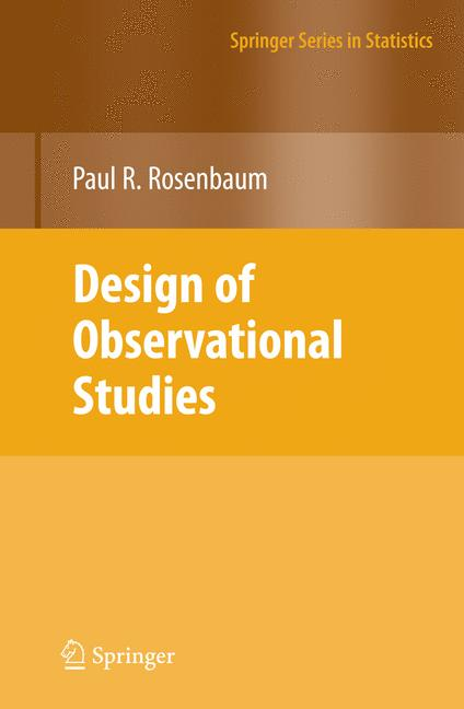 Cover of 'Design of Observational Studies'