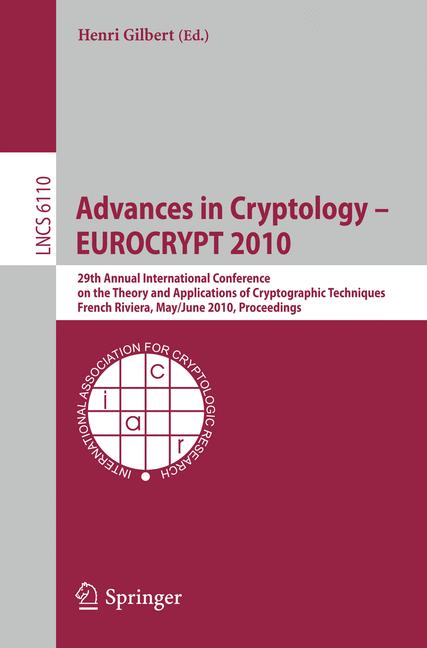 Cover of 'Advances in Cryptology – EUROCRYPT 2010'