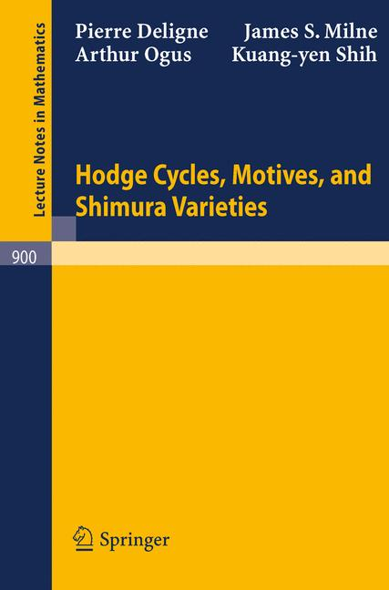 Cover of 'Hodge Cycles, Motives, and Shimura Varieties'