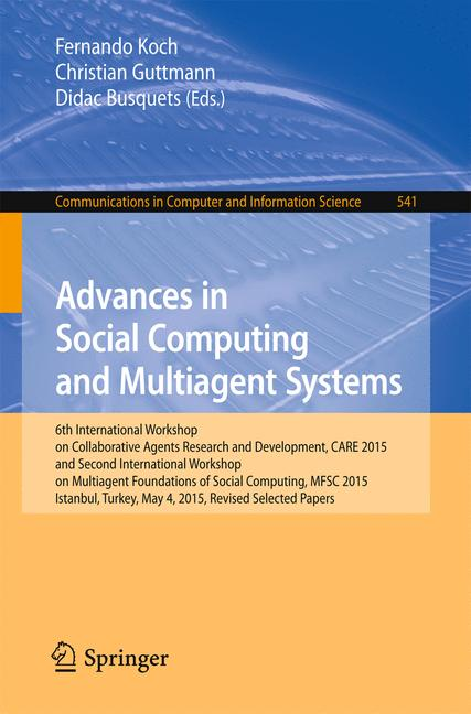 Cover of 'Advances in Social Computing and Multiagent Systems'