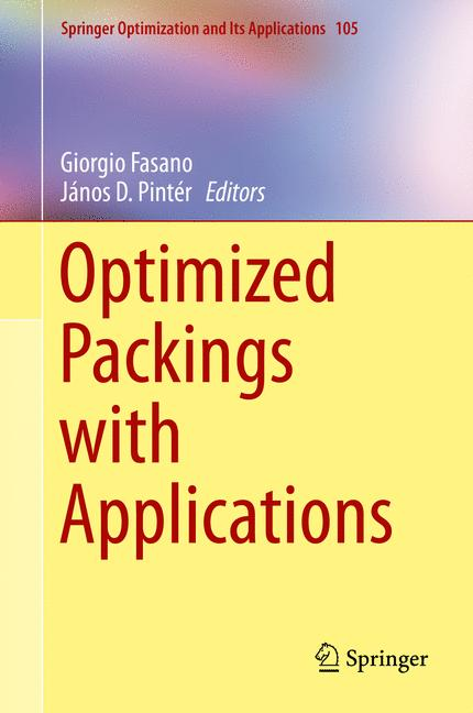 Cover of 'Optimized Packings with Applications'