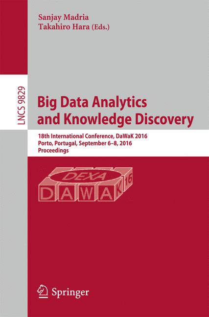 Cover of 'Big Data Analytics and Knowledge Discovery'
