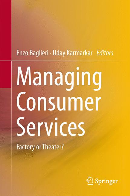 Cover of 'Managing Consumer Services'