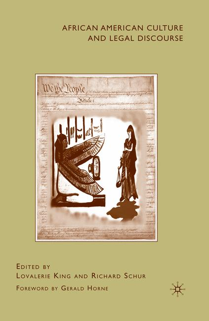 Cover of 'African American Culture and Legal Discourse'