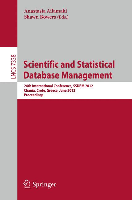 Cover of 'Scientific and Statistical Database Management'
